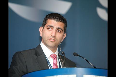 Naji Skaf, CEO of Gulf Cryo, presents at the gasworld Middle East Conference 2011.